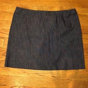 Short denim mini skirt